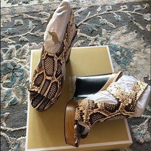 Michael Michael Kors snake print wedge sandals